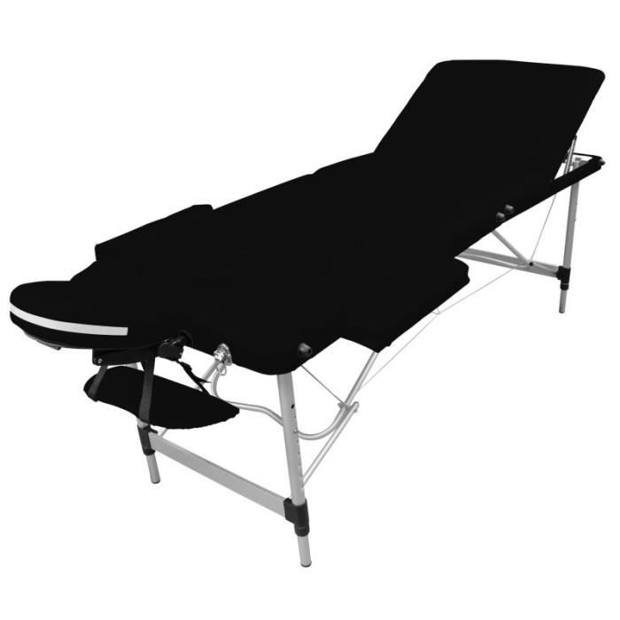 Table de massage Table de massage pliante 3 zones en aluminium + ac