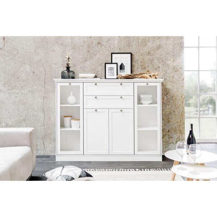 Matelpro Meuble De Rangement Contemporain Coloris Blanc Natural L 160 X H 120 X P 40 Cm Blanc Achat Vente Petit Meuble Rangement Matelpro Meuble De Cdiscount