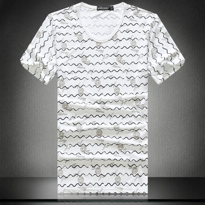 Tee Shirt O-Col Coton Mercerisé Homme Marque