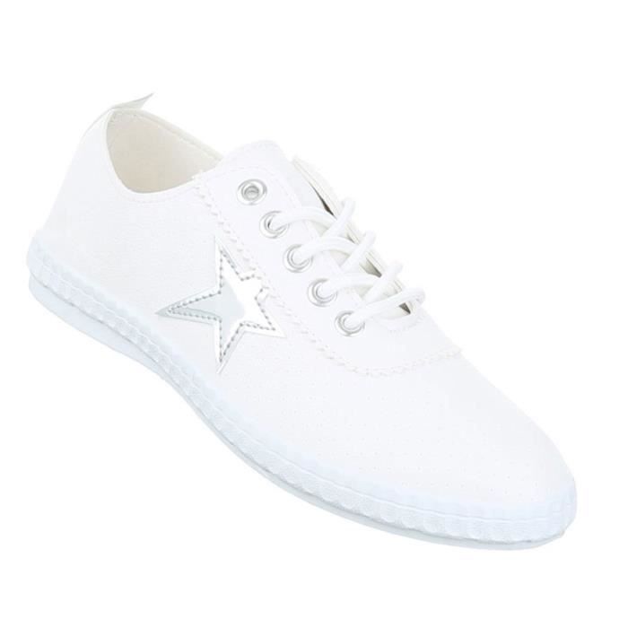 Femme chaussures loisirs chaussures Sneaker blanc 41