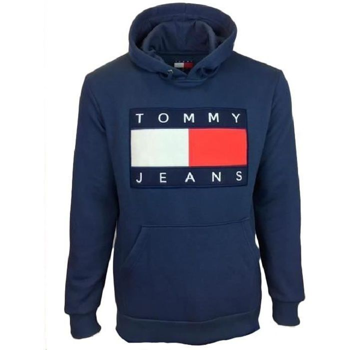 sweat capuche homme tommy hilfiger bleu bleu achat vente sweatshirt cdiscount. Black Bedroom Furniture Sets. Home Design Ideas