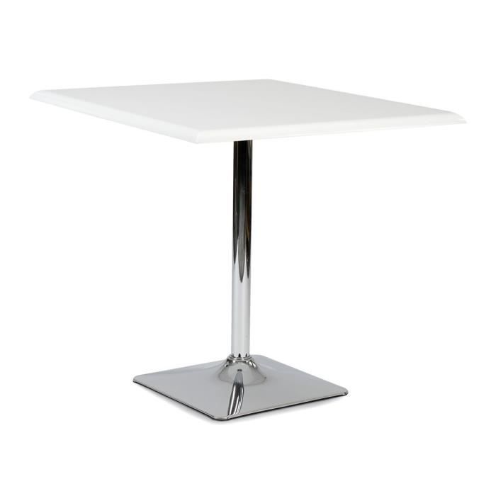 Table carr e gregy blanche achat vente table a manger for Table a manger carree blanche