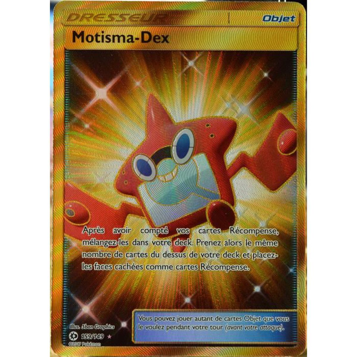Carte pok mon 159 149 motisma dex full art secrete sm1 - Motisma pokemon x ...