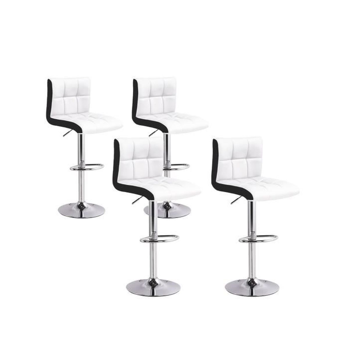 87ff8b3249fd0c Lot de 4 tabourets de bar Magic Blanc - Achat   Vente tabouret de ...
