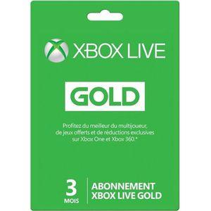 CARTE PRÉPAYÉE Abonnement Xbox Live Gold 3 mois