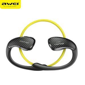 CASQUE - ÉCOUTEURS AWEI - A881BL Orange  - Ecouteurs Audio Sport - Bl
