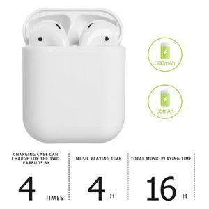 CASQUE - ÉCOUTEURS i18 TWS Écouteurs de musique sans fil Écouteurs Bl