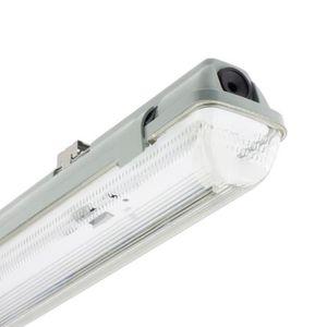 TUBE LUMINEUX Réglette Étanche pour un tube LED 1200mm PC-PC Con