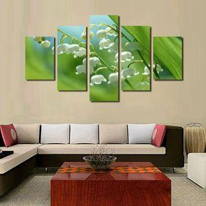 5 Pcs Unframed Paysage Toile Peinture Fleur Peinture Les