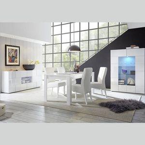 SALLE À MANGER  Salle à manger design blanc laqué SANDREA 180 cm S