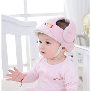 CASQUE ENFANT Bonnet de Protection bébé anti - Choc casque, Rose
