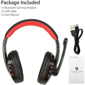 CASQUE AVEC MICROPHONE Casque Gamer sans fil Bluetooth pour Xbox PC PS4 a