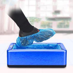 100 Pcs Surchaussures Jetables Imperm/éable en Plastique CPE Ind/échirable Protege Chaussures Jetables Pour Int/érieur et Ext/érieur Ezlife Couvre-chaussures Jetable Antid/érapante Bleu