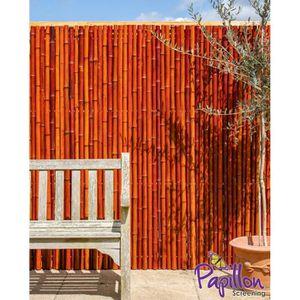 HAIE DE JARDIN Canisse Epaisse Bambou Rouge – 1.8m H x 1.9m L