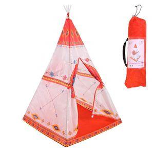 TENTE DE CAMPING Ensemble de Tente Tipi Indien Rouge Indien - Tente