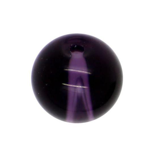 50 x Perle en Verre Transparent 8mm Mauve