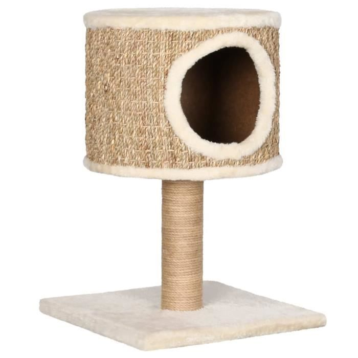 Arbre à Chat - Grande Taille Griffe de Chat Meubles pour chats Contemporain scandinave - avec appartement et griffoir 52 cm