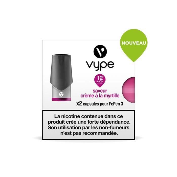 2 Capsules recharge Vype Epen 3 Crème à la myrtille 12 mg