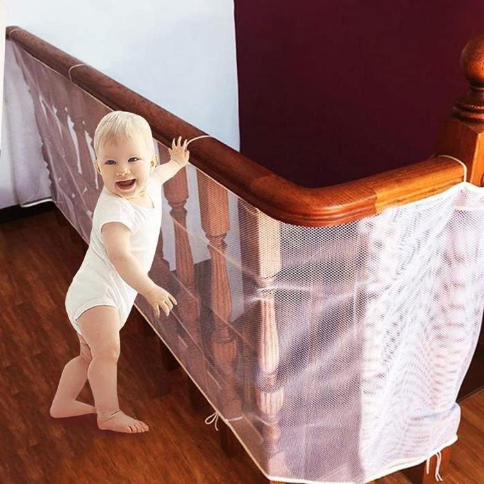 Filet de Sécurité Escalier,Filet Escalier,Filet Escalier Sécurité Bebe,Filet de Protection Escalier Enfant,Filet de Sécurité Balcon