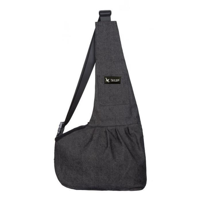 Sac de transport,TAILUP sac de transport pour chiens Sac à dos en tissu maille pour chiot Chihuahua Yorkies - Type denim black-S