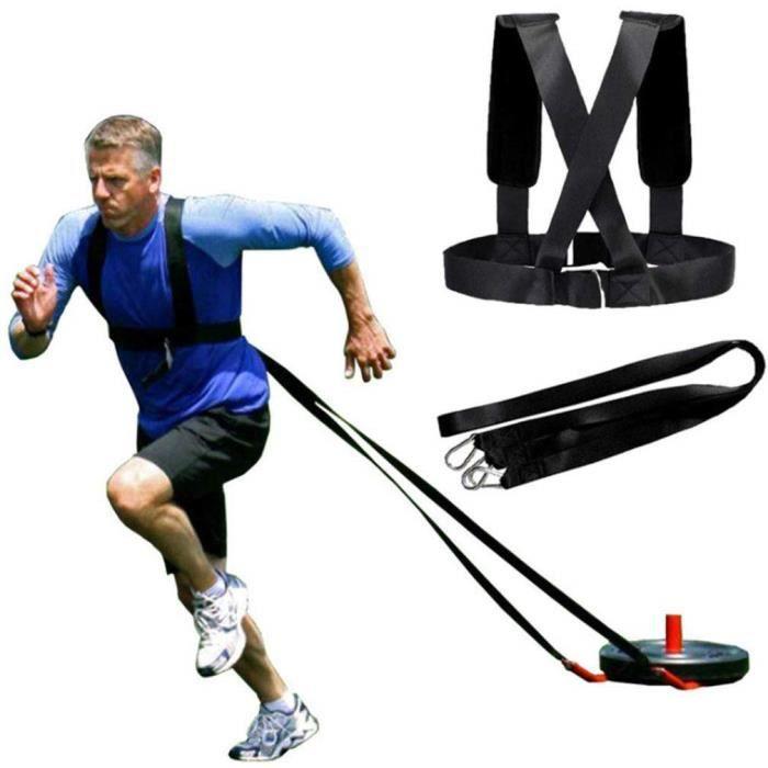 {Yokata} Harnais Traîneau Kit de Corde de Résistance à L'entraînement Physique pour L'entraîneur de Résistance, Peut tirer 1500 kg