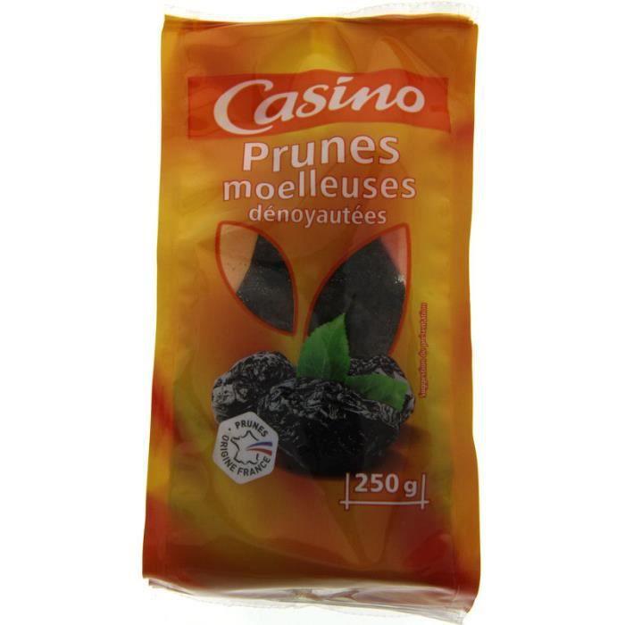 Prunes moelleuses dénoyautées - 250 g