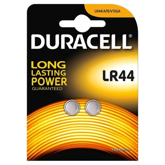 DURACELL Piles bouton LR44 (538951) - 5053380141974
