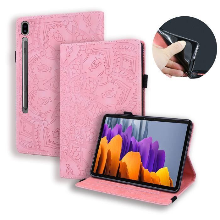 Tablette SM-T970 12.4- Samsung Galaxy Tab S7+- S7 Plus Étui...
