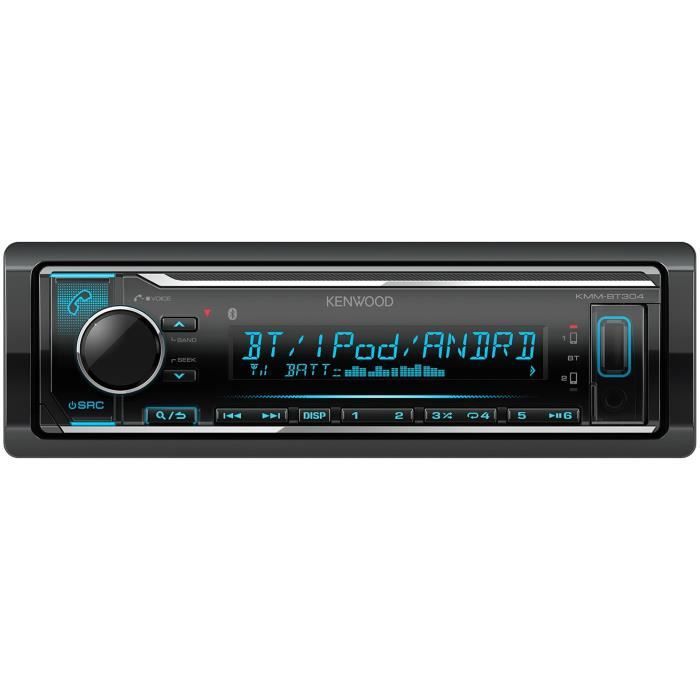 KENWOOD Autoradio KMM-BT304 - CD - USB - Iphone - Couleur variant
