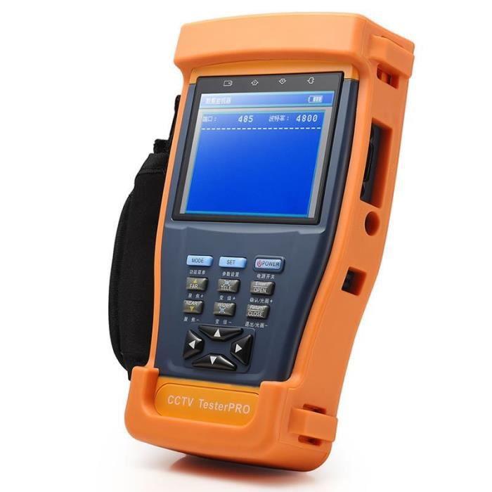 4 En 1 Cctv Tester Testeur De Moniteur Video Pour Cameras Ahd Tvi Cvi Cvbs, Moniteur Lcd 3.5 Pouces, Sortie D'alimentation 12V Dc,