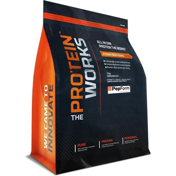 The Protein Works - Gainer Muscles Sec Avec Cuillère et Shaker Gratuits - Formule Pour Prise de Masse Musculaire Sèche - Chocolat