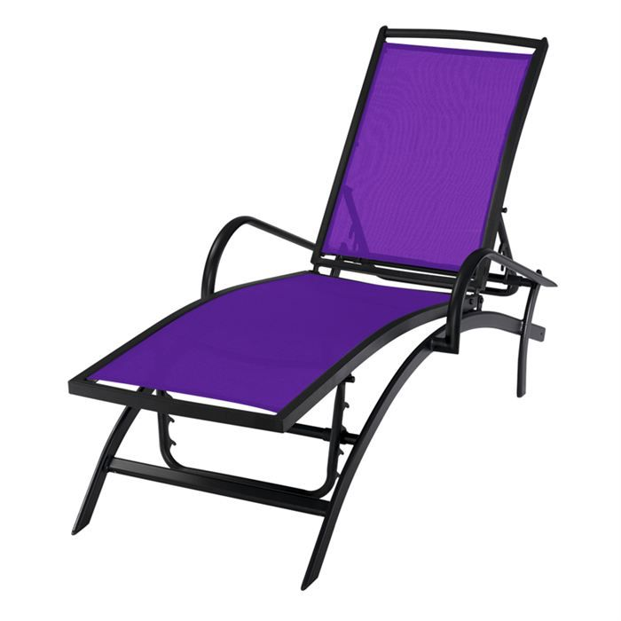 lit bain de soleil modulo violet achat vente chaise. Black Bedroom Furniture Sets. Home Design Ideas