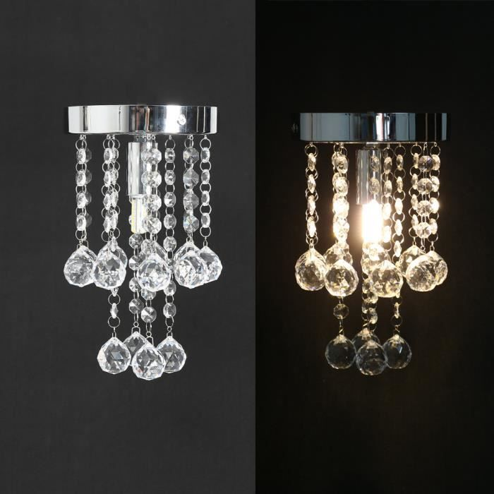 e14 lustre plafonnier suspensions luminaire cristal chandelier chambre lumiere moderne. Black Bedroom Furniture Sets. Home Design Ideas