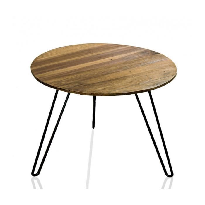 table de salon ronde en bois achat vente table de salon ronde en bois pas cher les soldes. Black Bedroom Furniture Sets. Home Design Ideas