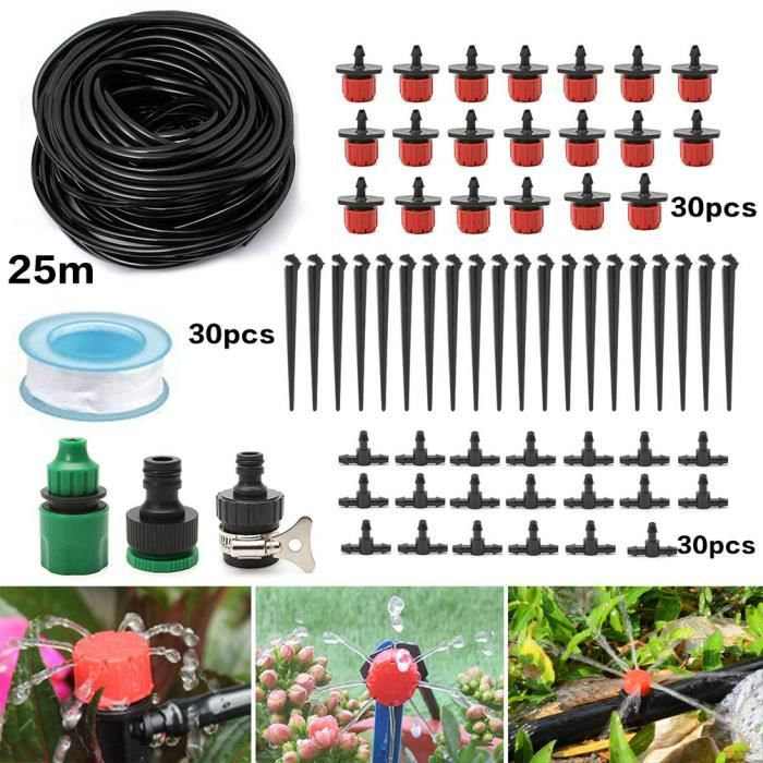 Tuyau arrosage Micro Drip Jardin Kits À faire soi-même Goutteur Système d/'irrigation 25 M automatique