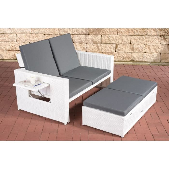 clp mobilier de jardin 2 places ancona support en aluminium repose pieds extensible 7. Black Bedroom Furniture Sets. Home Design Ideas