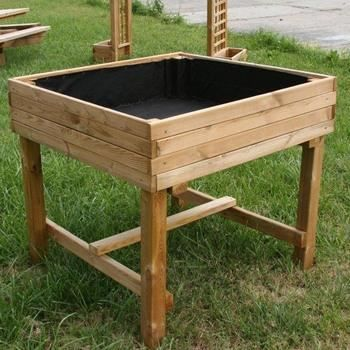 carr potager sur pieds en pin autoclave fsc 10 achat vente carr potager table carr. Black Bedroom Furniture Sets. Home Design Ideas