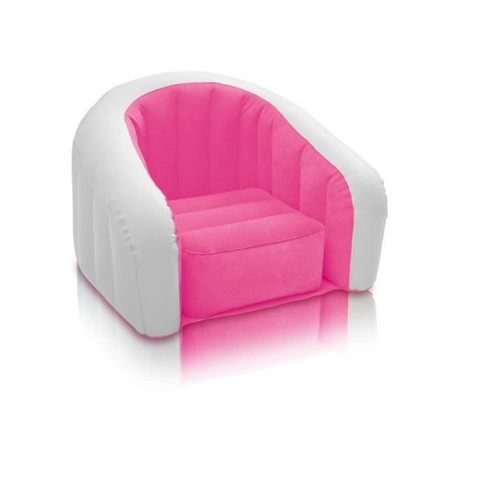 fauteuil gonflable enfant intex cluby pop rose achat. Black Bedroom Furniture Sets. Home Design Ideas