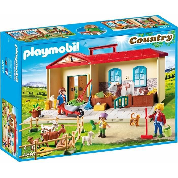 Photo de playmobil-4897-country-ferme-transportable-exclusivite-cdiscount