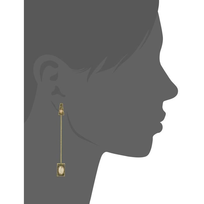House Of Harlow 1960 Tanta Crosshatch Drop Earrings GD497