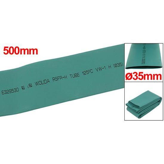 uxcell 35mm Diam/ètre 500mm Long Tuyau Thermor/étractable Fil Housse 2 Pi/èces Rouge Noir