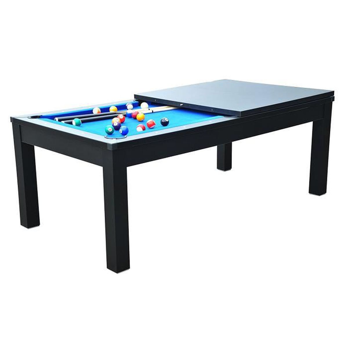 table manger billard convertible table a manger noir. Black Bedroom Furniture Sets. Home Design Ideas