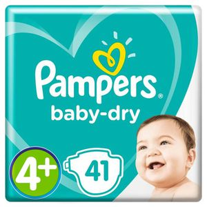 COUCHE PAMPERS Baby-Dry Taille 4+, 10-15 kg - 41 Couches