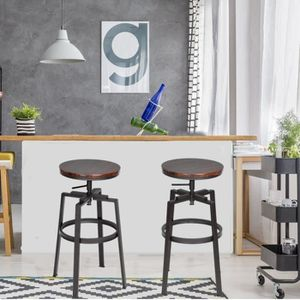 TABOURET DE BAR FurnitureR Lot de 2 Tabouret de Bar Chaises de Bar