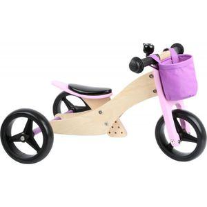 DRAISIENNE Draisienne-Tricycle vélo fille 2 en 1 Rose jouet e