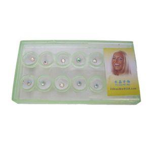 FIL DENTAIRE 10pcs - boîte 2 mm dentaire cristal coloré dent Bi