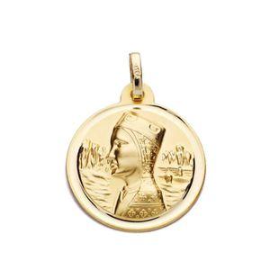 PENDENTIF VENDU SEUL Médaille pendentif Or 18 carats Vierge de Montserr