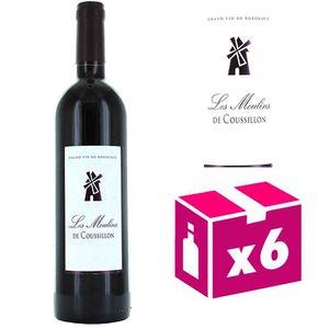 VIN ROUGE 6 bouteilles Les Moulins de Coussillon - Castillon