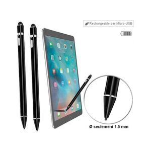 Bluestork BS-STYL-PAD//B Stylet pour Tablettes et Smartphones Noir iPad, iPhone, Samsung Galaxy, Kindle