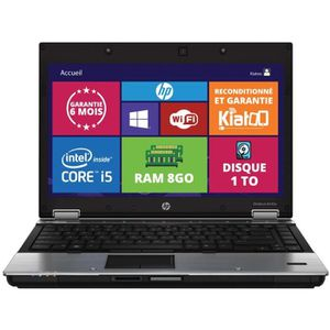 ORDINATEUR PORTABLE ORDINATEUR PORTABLE HP ELITEBOOK 8440 CORE I5 8GO
